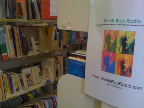 photo of Shrink Rap Radio poster in New Zealand library