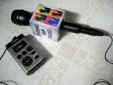 photo of mic, mic flag, and recorder